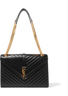 Saint Laurent Cassandre Large Quilted Textured-leather Shoulder Bag