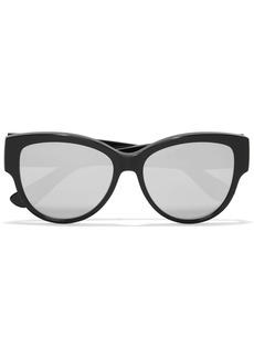 Yves Saint Laurent Saint Laurent Cat-eye acetate mirrored sunglasses