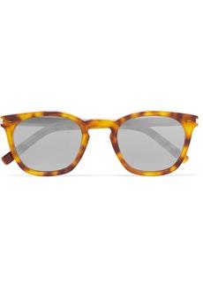 Saint Laurent Cat-eye Tortoiseshell Acetate Mirrored Sunglasses