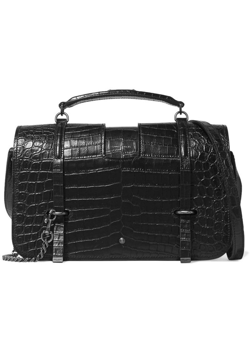 a48cf41e9ee1 Saint Laurent Saint Laurent Charlotte large croc-effect leather ...