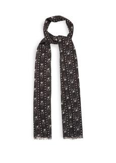 Yves Saint Laurent Saint Laurent Chevron ikat-print wool-blend scarf