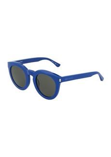 Yves Saint Laurent Saint Laurent Chunky Round Plastic Sunglasses