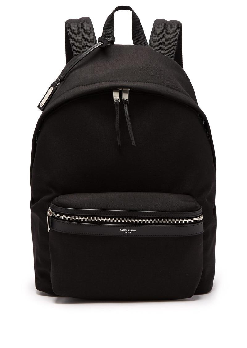 d94b39a9de Yves Saint Laurent Saint Laurent City canvas backpack