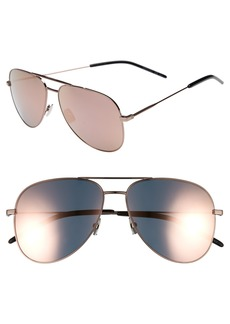Yves Saint Laurent Saint Laurent Classic 11 59mm Aviator Sunglasses