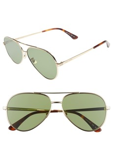 Yves Saint Laurent Saint Laurent Classic 11 Zero 60mm Aviator Sunglasses