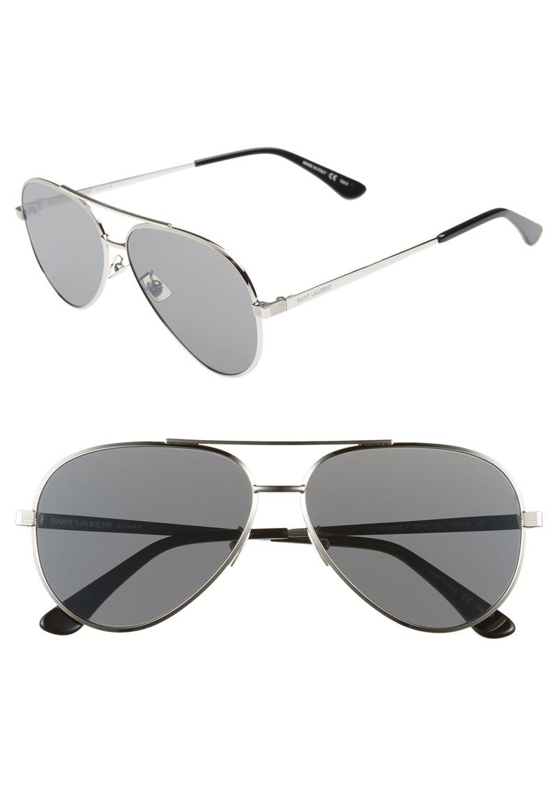ee8eb3bde24 Yves Saint Laurent Saint Laurent Classic 11 Zero 60mm Aviator Sunglasses