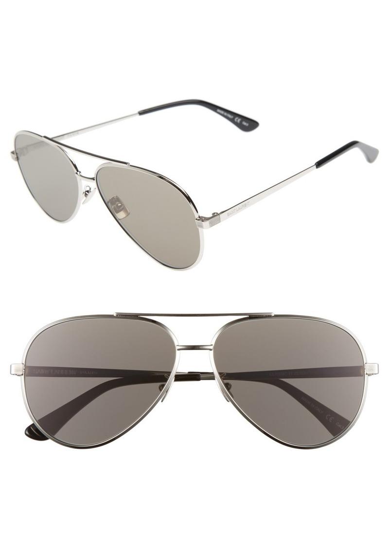 Yves Saint Laurent Saint Laurent Classic 11 Zero 60mm Aviator Sunglasses