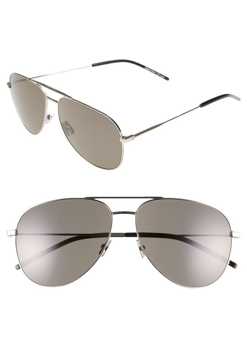 Yves Saint Laurent Saint Laurent 'Classic' 59mm Aviator Sunglasses