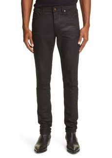 Yves Saint Laurent Saint Laurent Coated Skinny Jeans