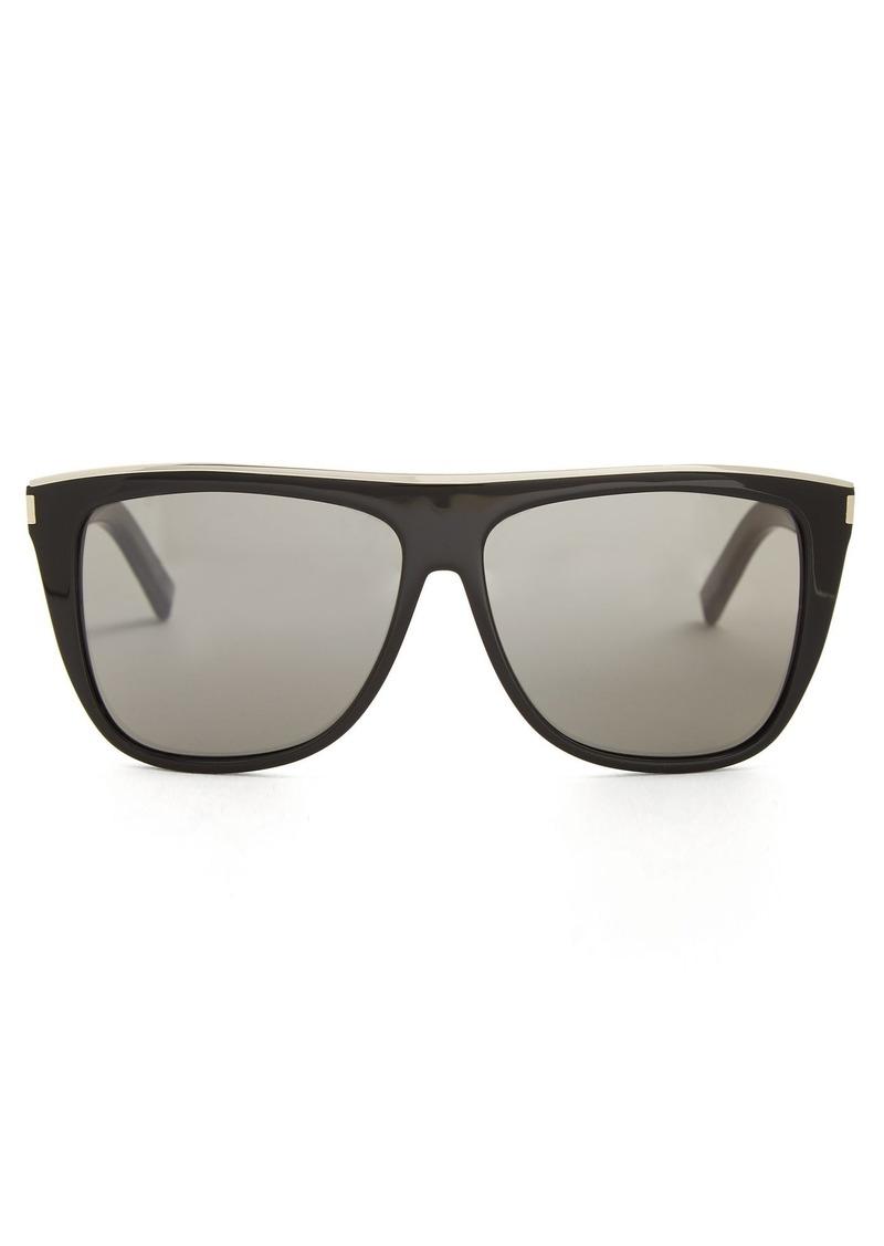 646dfbd512 Saint Laurent Saint Laurent Combi Flat-top acetate sunglasses ...