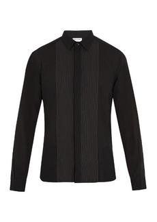 Yves Saint Laurent Saint Laurent Contrast-panel wool shirt