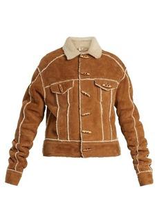 Yves Saint Laurent Saint Laurent Contrast-trim shearling jacket