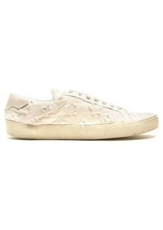 Saint Laurent Court Classic distressed canvas trainers