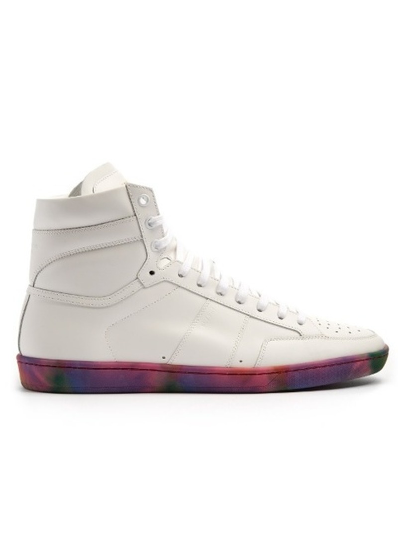 Saint Laurent High Top Court Classic Trainers Cheap Purchase Buy Cheap Cost Huge Surprise Online Outlet With Paypal Cheap Sale Order lKBlct