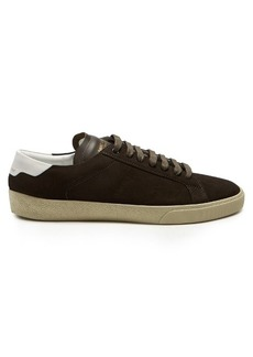 Saint Laurent Court Classic low-top suede trainers