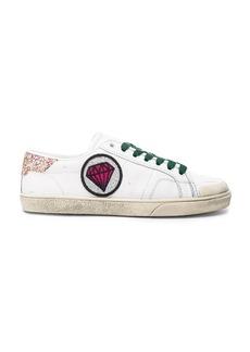 Saint Laurent Court Classic Patch Sneaker