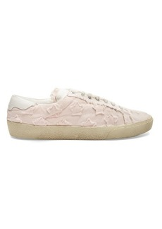 Saint Laurent Court Classic star-appliqué canvas trainers