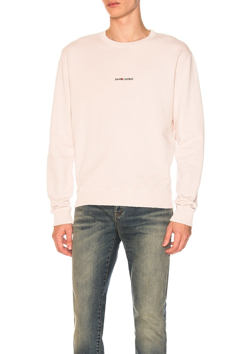 c3b3aa066d2 Yves Saint Laurent Saint Laurent Crewneck Sweatshirt | Athletic Shirts