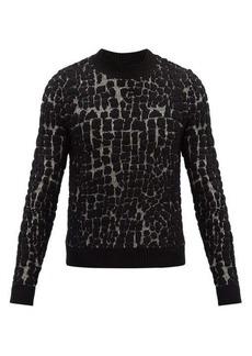 Yves Saint Laurent Saint Laurent Crocodile-jacquard wool-blend sweater