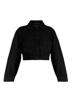 Saint Laurent Cropped denim jacket