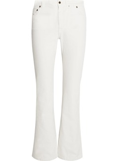Yves Saint Laurent Saint Laurent Cropped high-rise flared jeans