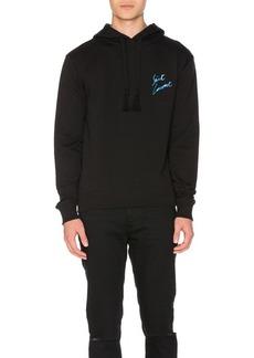 Yves Saint Laurent Saint Laurent Cursive Logo Emblem Hoodie