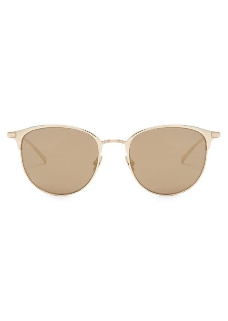 Yves Saint Laurent Saint Laurent D-frame mirrored sunglasses ...