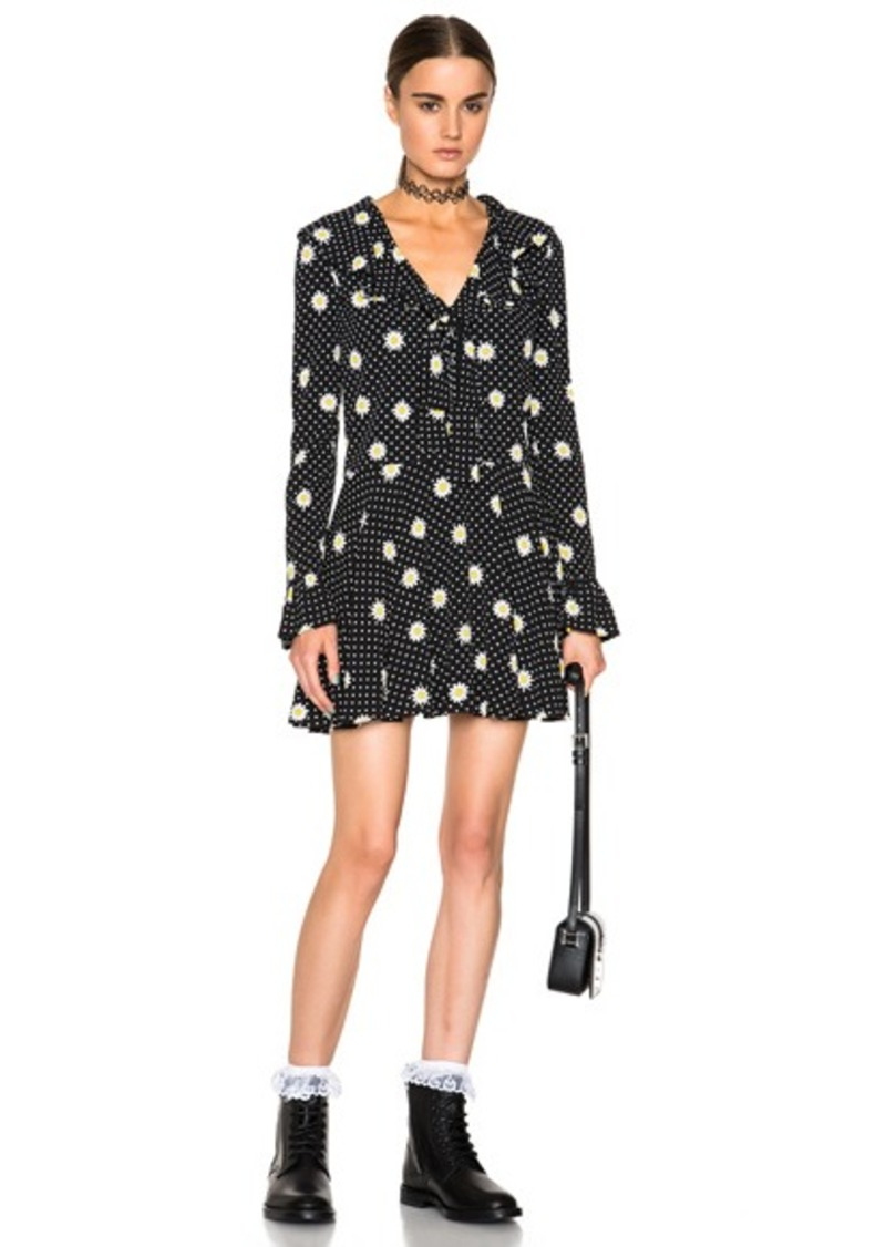 Saint Laurent Daisy Print Dress