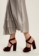 562f315cb618 Saint Laurent Saint Laurent Debbie platform-heel velvet sandals