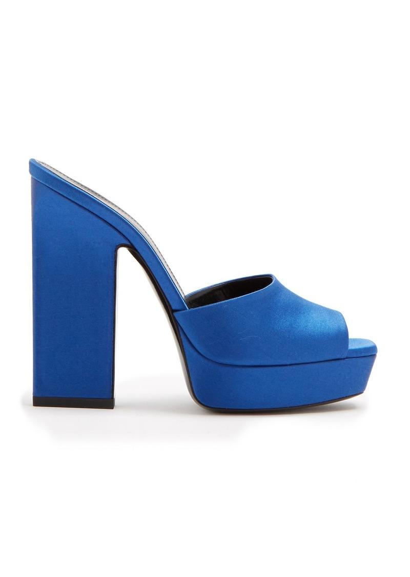 fbd33b7ff43 Saint Laurent Saint Laurent Debbie platform satin mules | Shoes