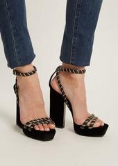 f21c96873bfd Saint Laurent Saint Laurent Debbie platform velvet sandals