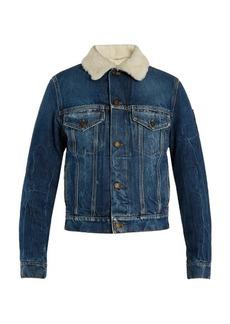 Saint Laurent Denim and shearling jacket