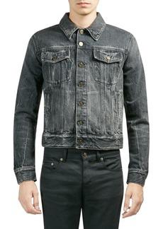 Yves Saint Laurent Denim Buttoned Cotton Jacket