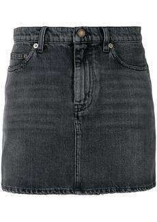 Yves Saint Laurent Saint Laurent denim mini skirt - Black
