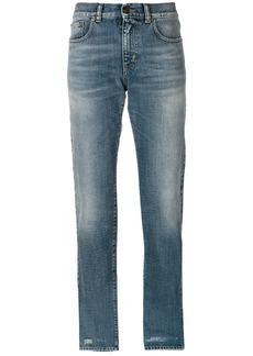Yves Saint Laurent Saint Laurent distressed boyfriend jeans - Blue