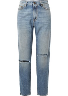 Yves Saint Laurent Saint Laurent Distressed boyfriend jeans