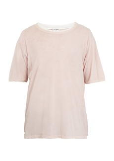 Yves Saint Laurent Saint Laurent Distressed-collar cotton T-shirt