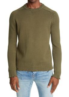 Yves Saint Laurent Saint Laurent Distressed Crewneck Sweater