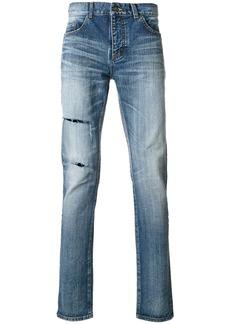 Yves Saint Laurent distressed denim jeans