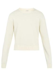 Yves Saint Laurent Saint Laurent Distressed-edge crew-neck sweater