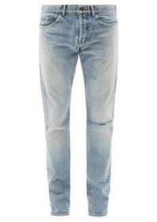 Yves Saint Laurent Saint Laurent Distressed slim-leg jeans
