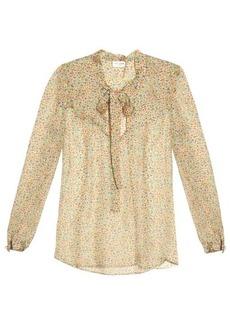 Saint Laurent Ditzy floral silk top