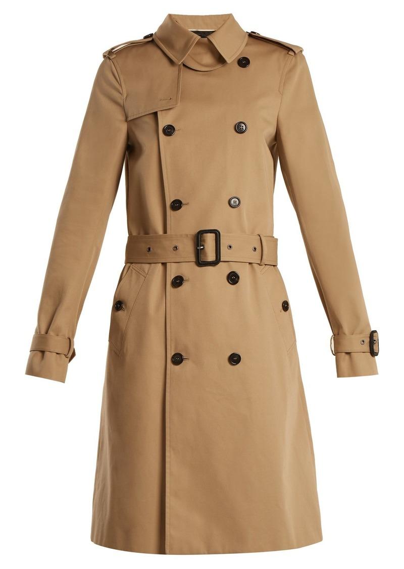 c897b4f04f Double-breasted gabardine trench coat