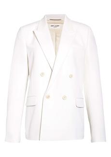 Yves Saint Laurent Saint Laurent Double Breasted White Wool Sport Coat