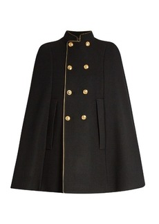 Yves Saint Laurent Saint Laurent Double-breasted wool cape