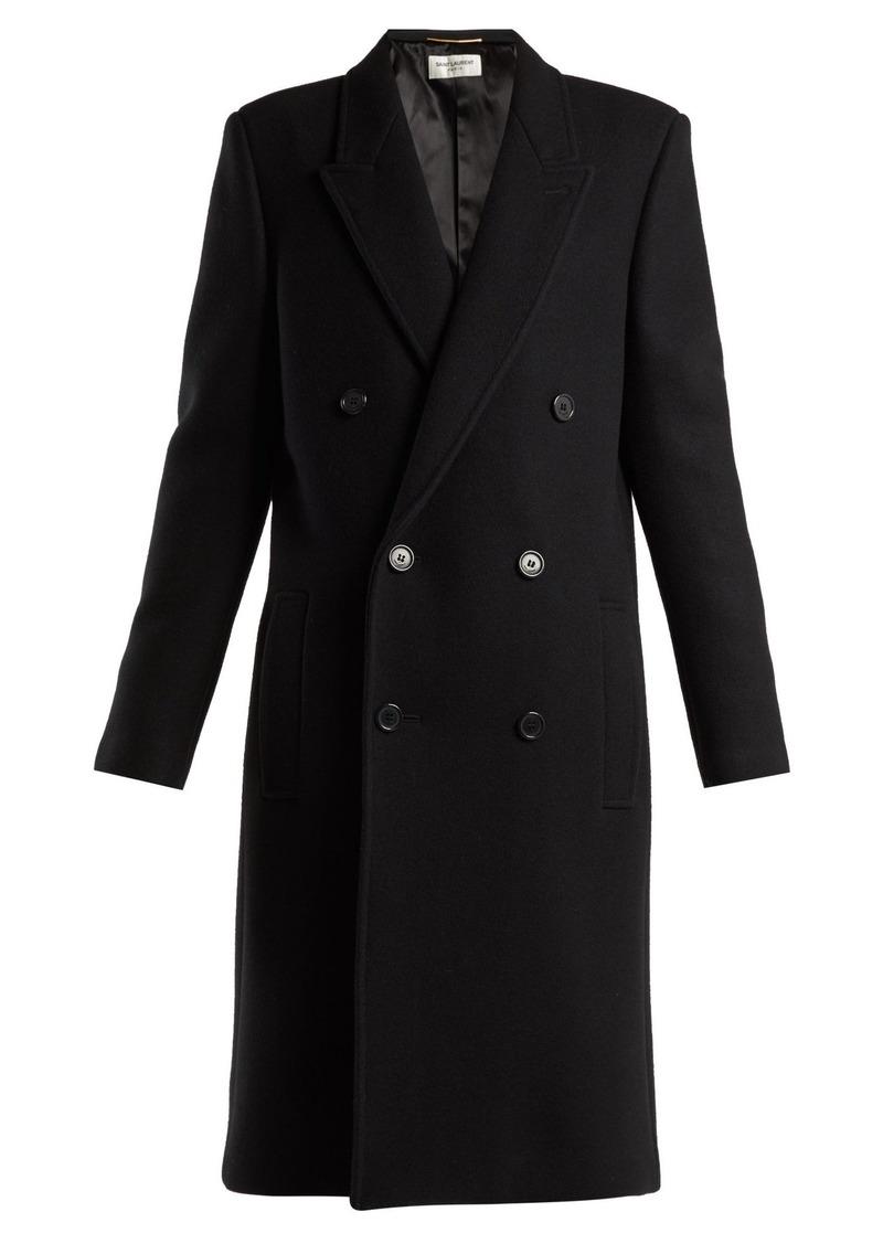 cbcb7ce91cc Saint Laurent Saint Laurent Double-breasted wool coat   Outerwear