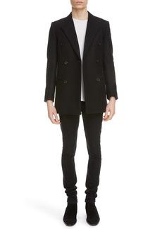Yves Saint Laurent Saint Laurent Double Breasted Wool Jacket