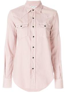 Yves Saint Laurent Saint Laurent double-pocket button shirt - Pink & Purple
