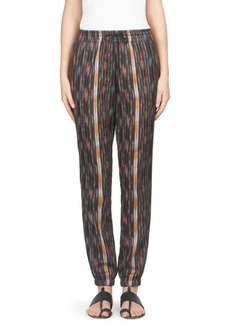 Saint Laurent Drawstring Ikat Trousers
