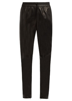 Saint Laurent Drawstring leather trousers